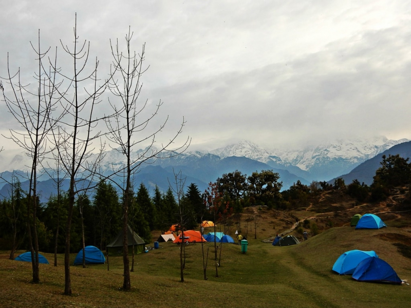 Camping at Deoria Tal