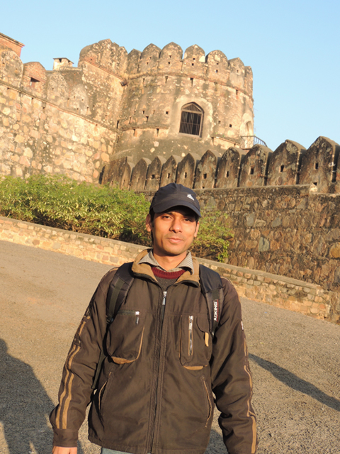 me in the front of Jhansi Fort