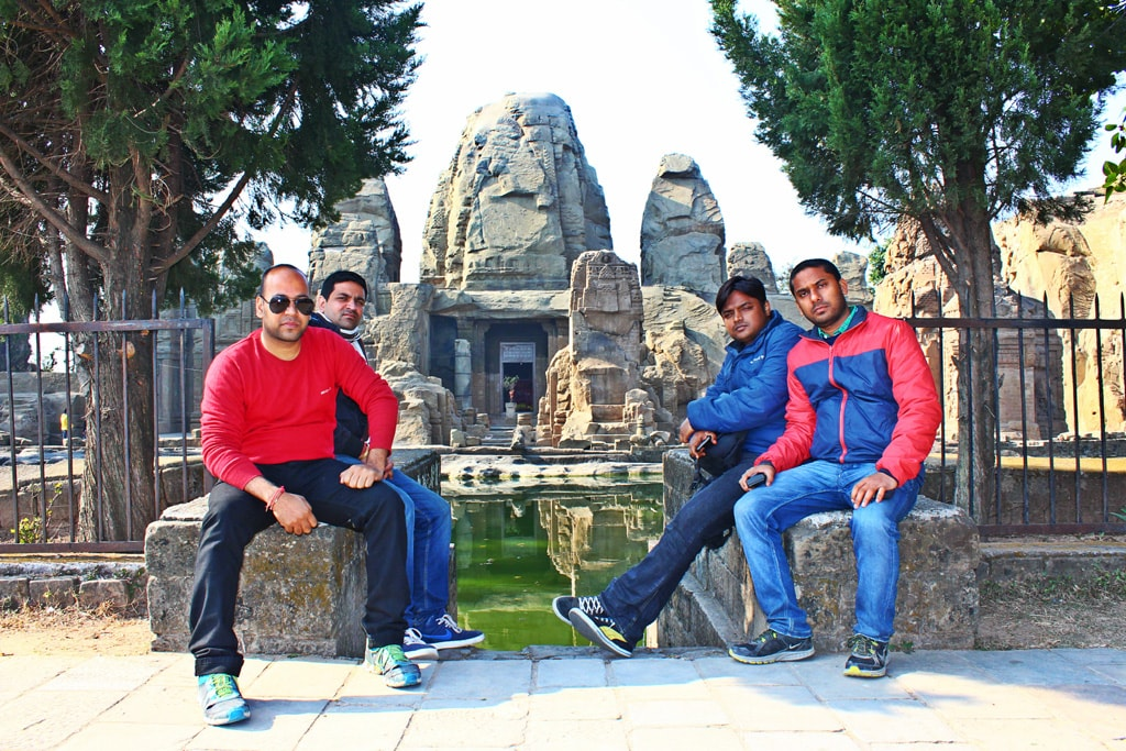 All of us at Masroor Rock Cut Temple