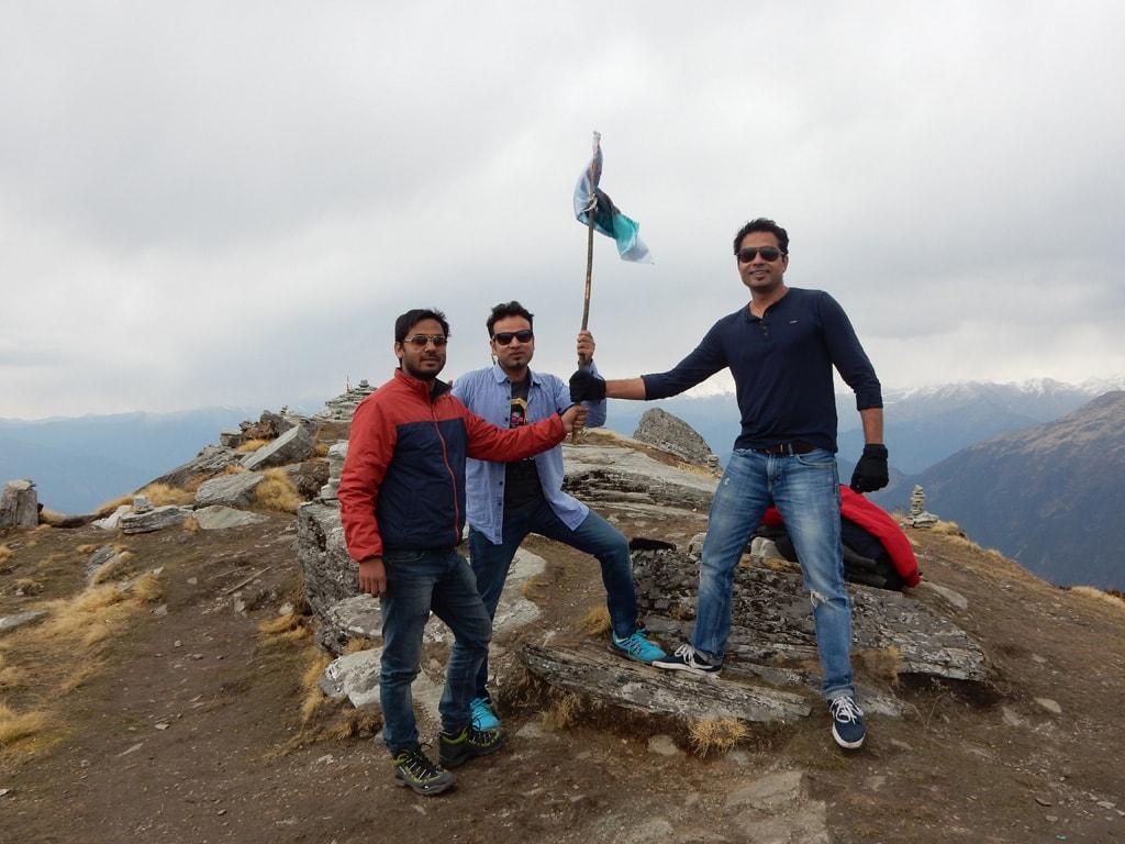 reached at Chandrashila