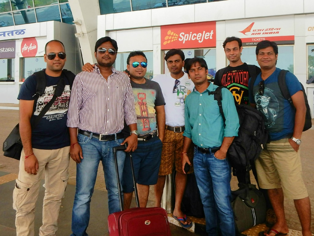 All of us at Goa airport