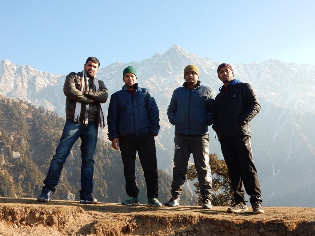 All of us at Triund hills