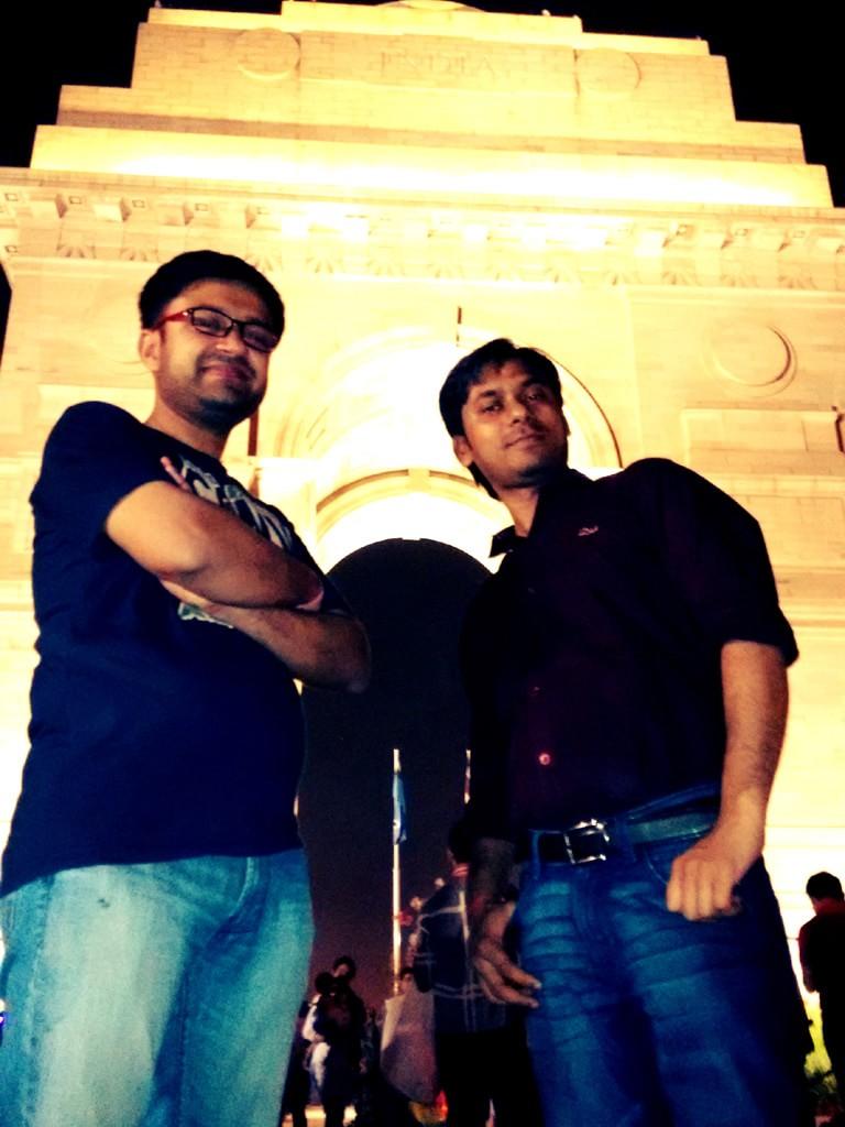 Shashwat and Vivek at India Gate