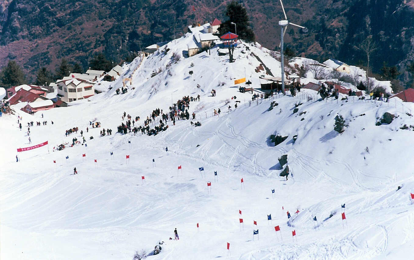 Skiing point, Auli