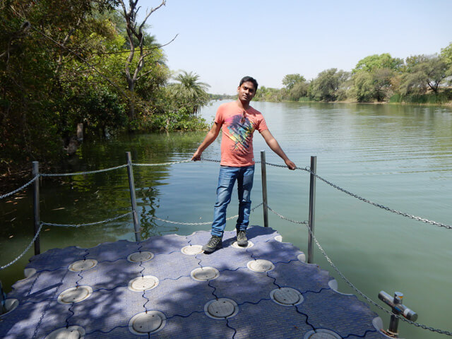 me at Betwa River, near Jungle Resort
