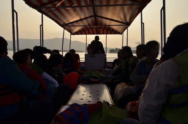 Boating in Lake Pichola