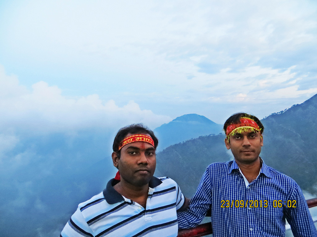 Brijesh and I, from Bhairav temple