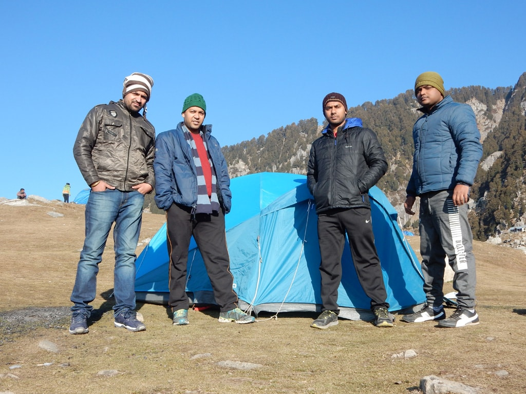 Our camp at Triund