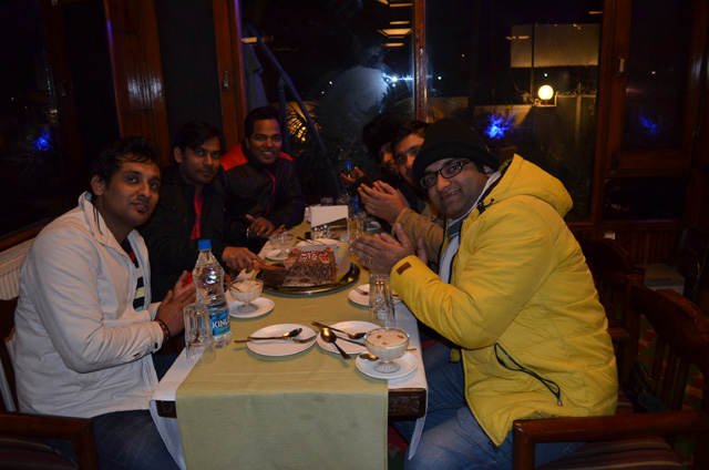 Celebrating My Birthday in Ahoods Hotel, Srinagar