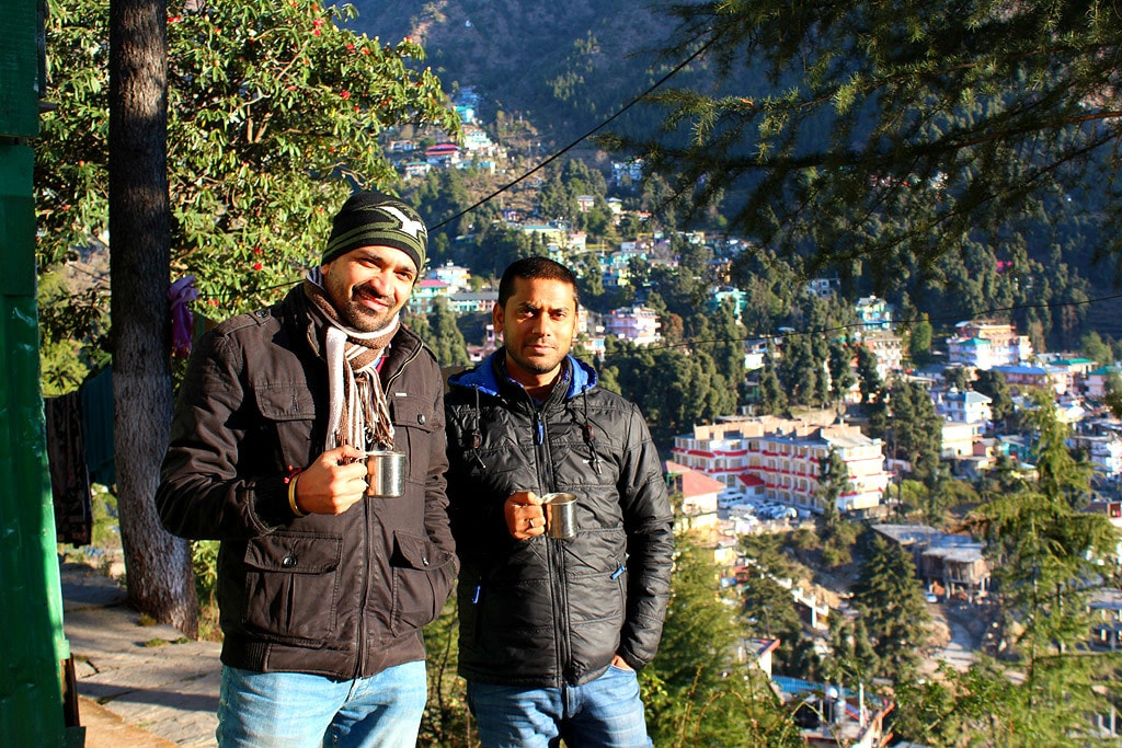 Deepankar and Vivek at Triund Junction Guesthouse
