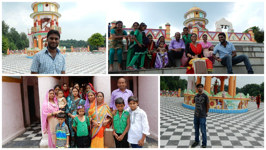 Family photo at Jhali Dham Temple and Prithvi Nath Temple