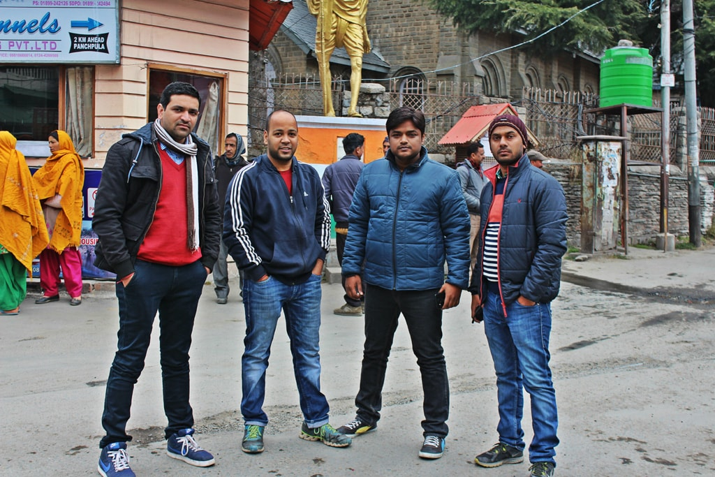 All of us at Gandhi Chowk, Dalhousie