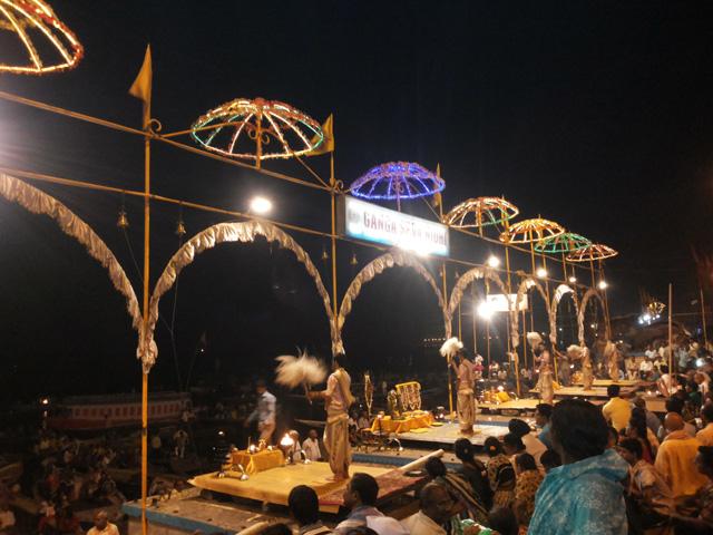 Ganga Arti at Dashashwamedh Gath