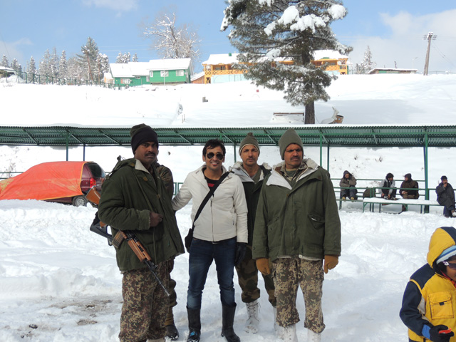 Gaurav in Gulmar with military