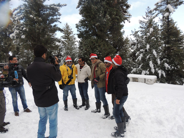 Giving interview in Gulmarg