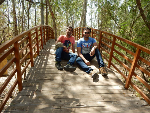 me and Neeraj at Jungle Resort, Vidisha