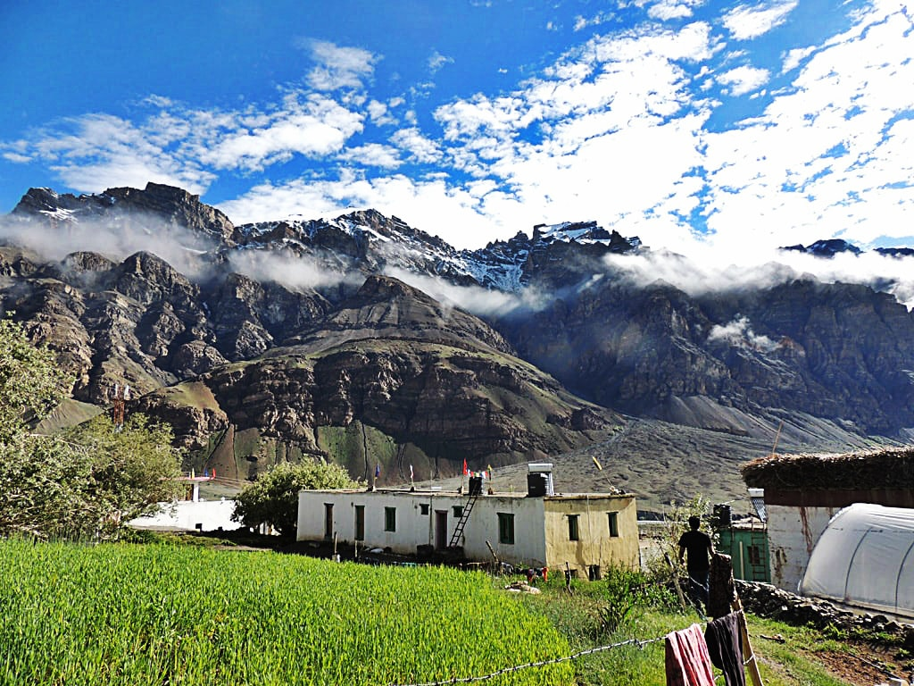 Losar village, first village in Spiti Valley