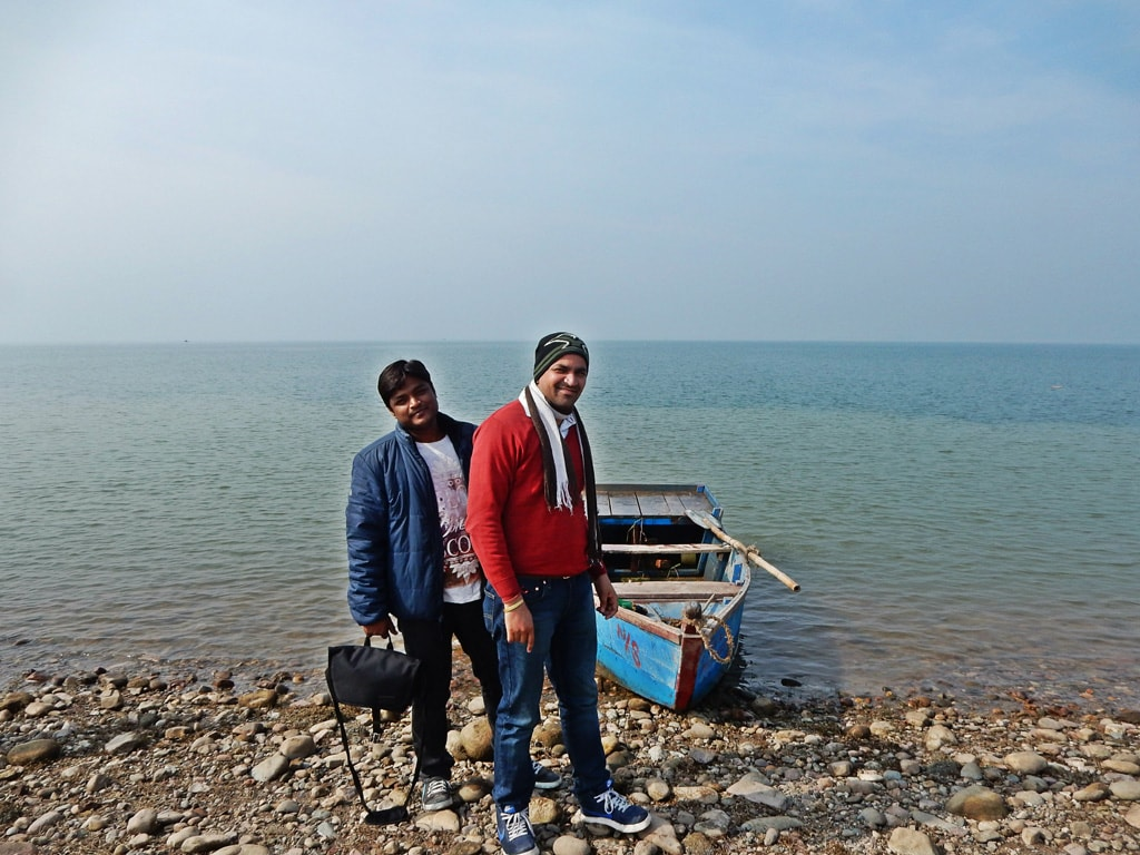 Manish and Deepankar at Pong lake