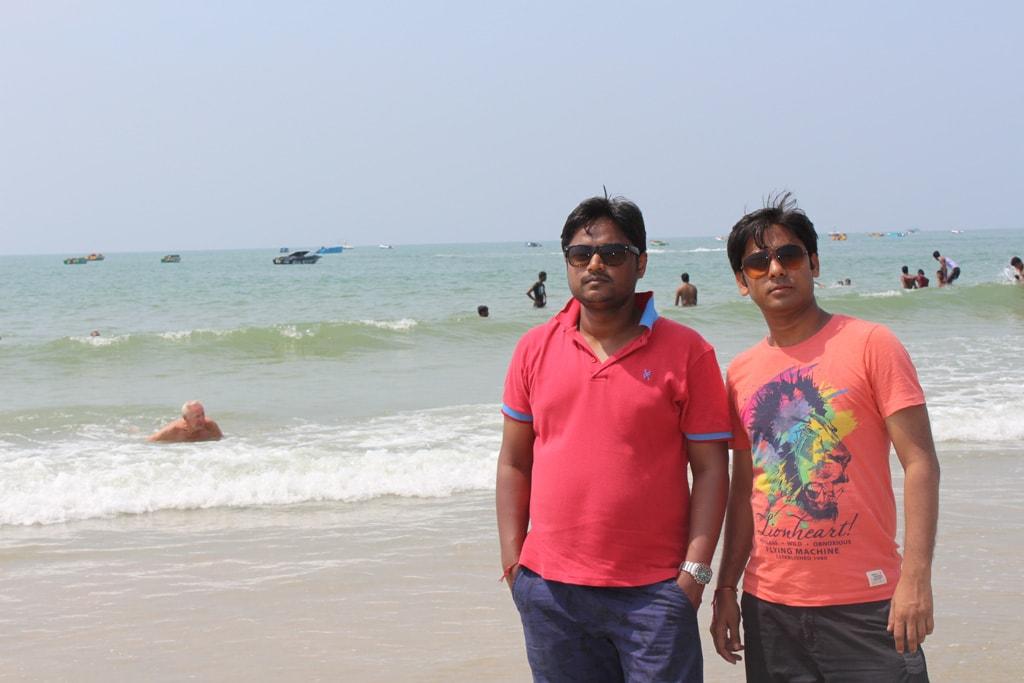 Manish and Vivek at Palolem beach, South Goa