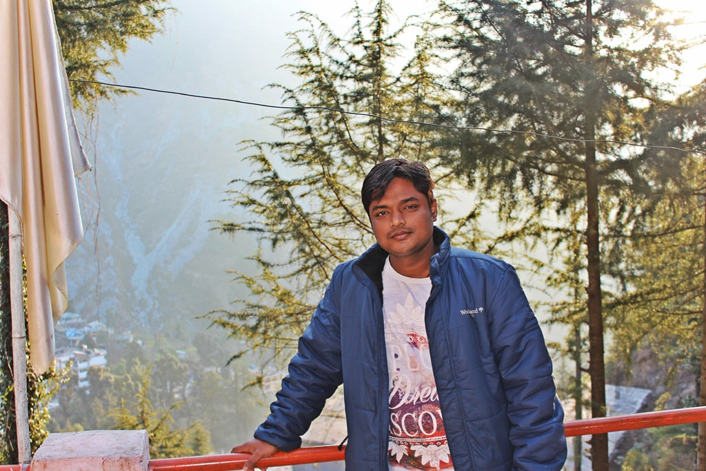 Manish at Triund Junction guesthouse