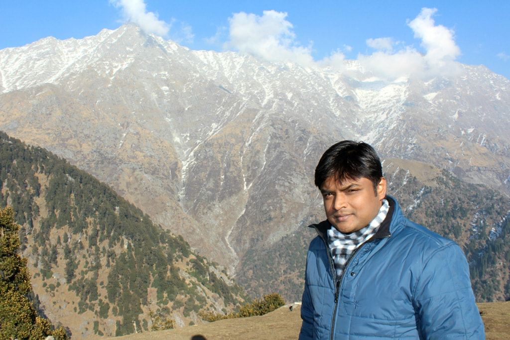 Manish at triund