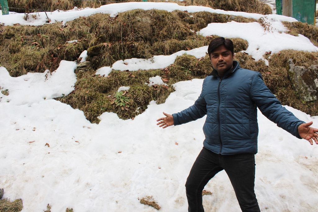 Manish, on the way to Khajjiar