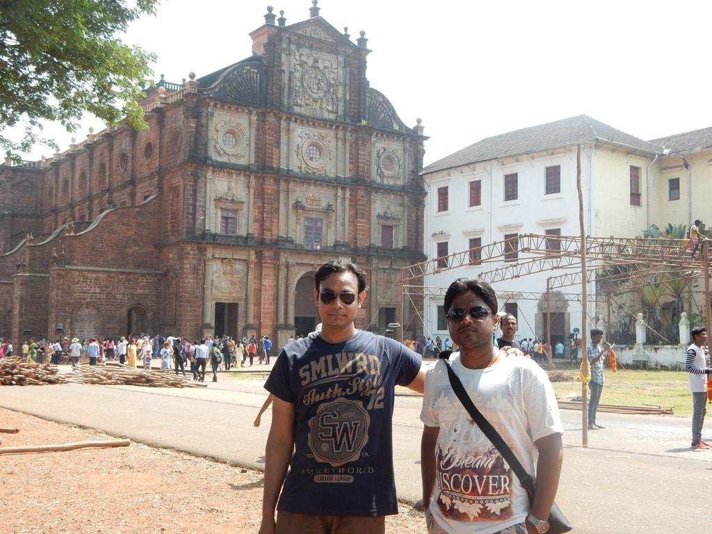 Neeraj and Manish at Basilica of Bom Jesus