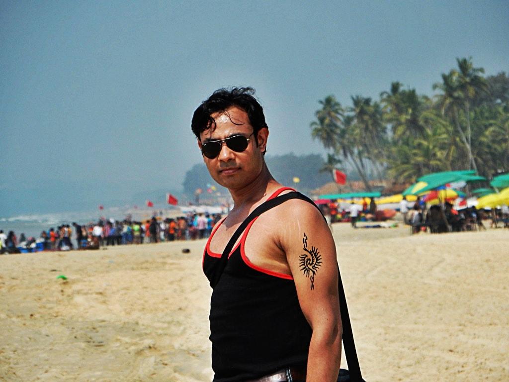 Neeraj at Colva beach