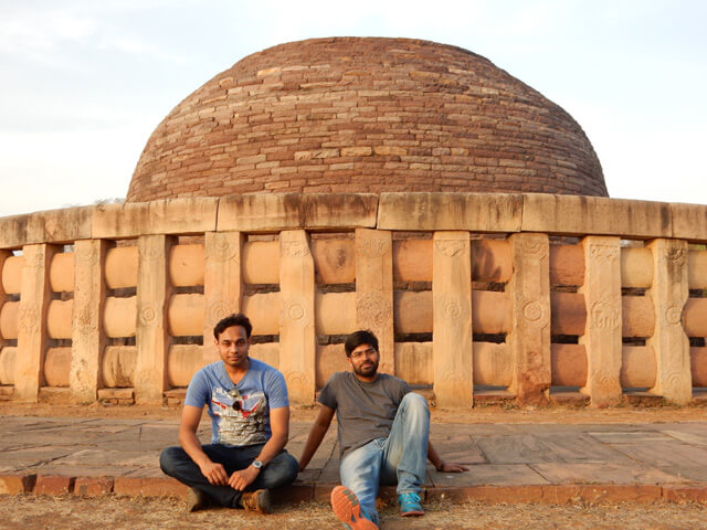 Neeraj and Pankaj at Sanchi Stupa