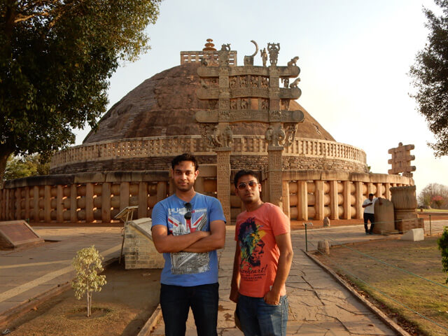 Neeraj and Vivek at The Greate Stupa, Sanchi