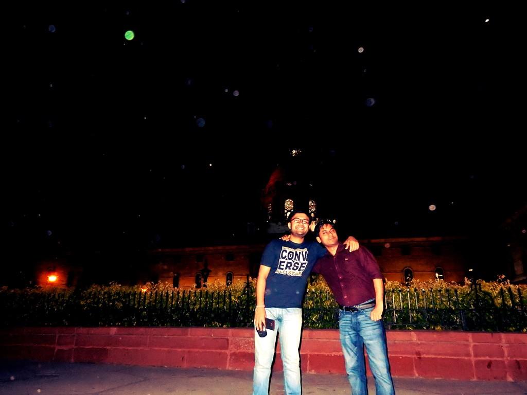 Shashwat and Vivek at North Block