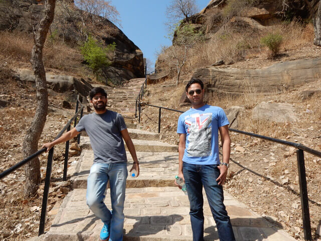 Pankaj and Neeraj at Udayagiri Cave