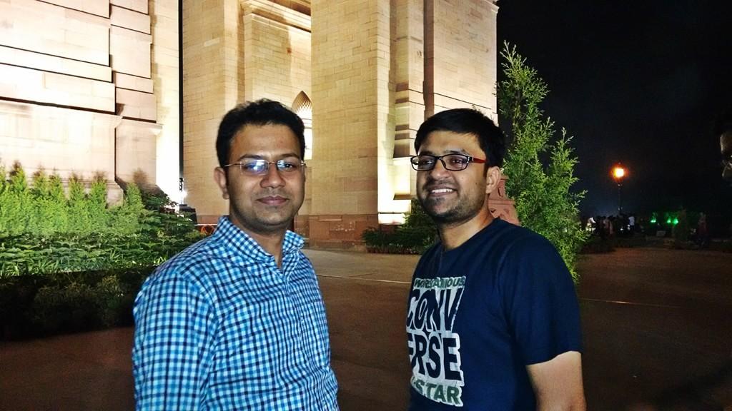 Pulkit and Shashwat at India Gate