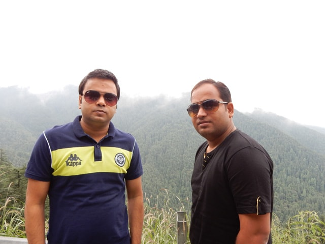 Sanjay and Rohit at Green Valley view point