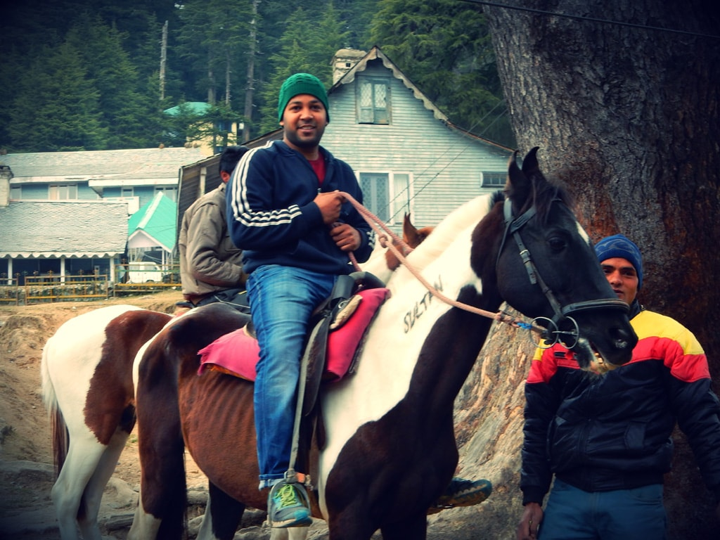 Shashank ready for horse ride at Khajjiar