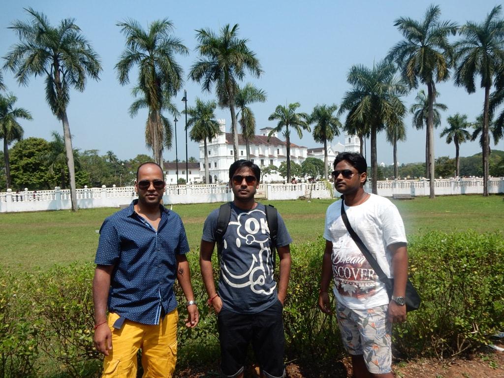 Shashank, Vivek and Manish at Goa Museum