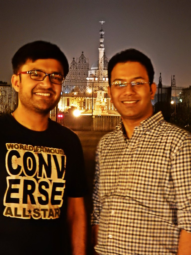 Shashwat and Pulkit in front of President House