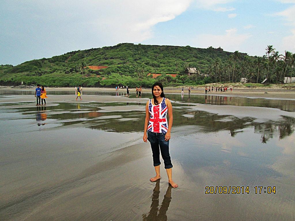 Shweta at Vagator beach
