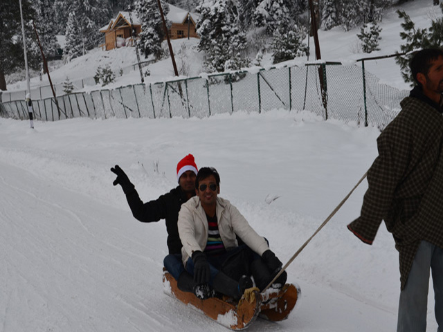 Sldge Cart with Gaurav, Gulmarg