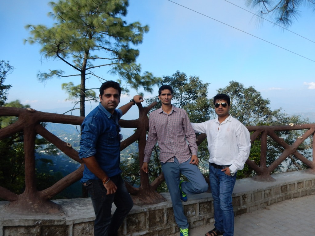 Ankit, Pawan and Mohit at Tip-in-Top