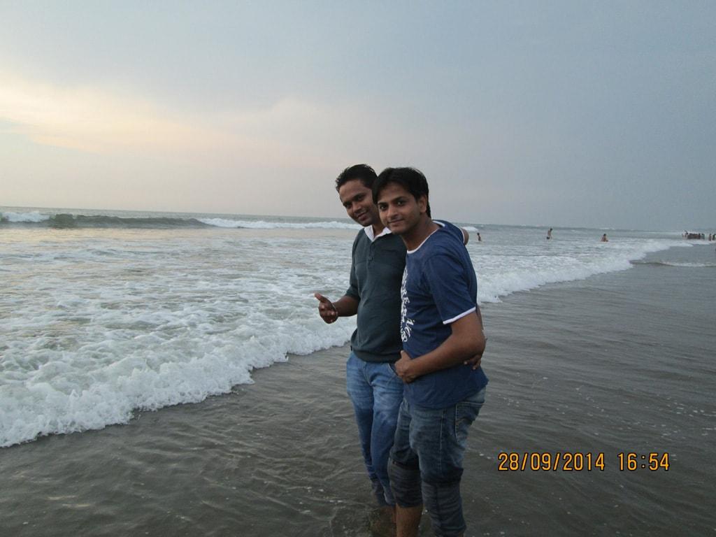 Mudit and Rupesh at Vagator beach