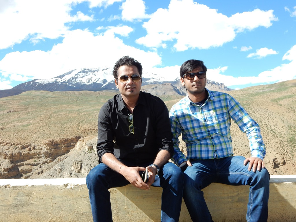 Varun and Vivek in Langza