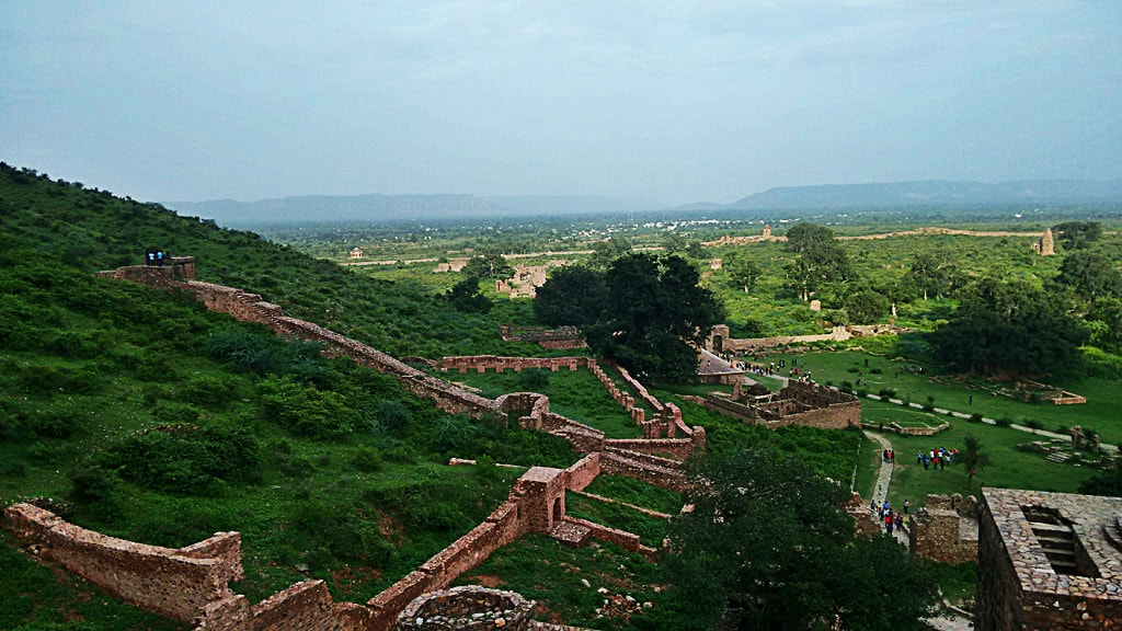 Beautiful view from Bhangarh Fort