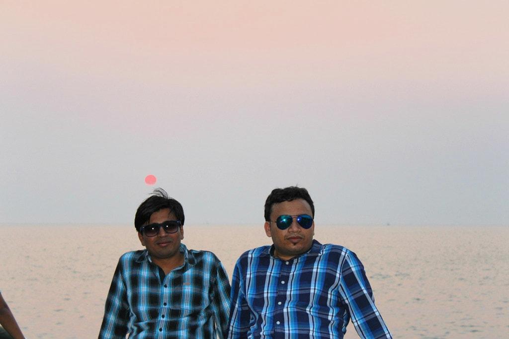 Vipul and Tarun at Marine Drive