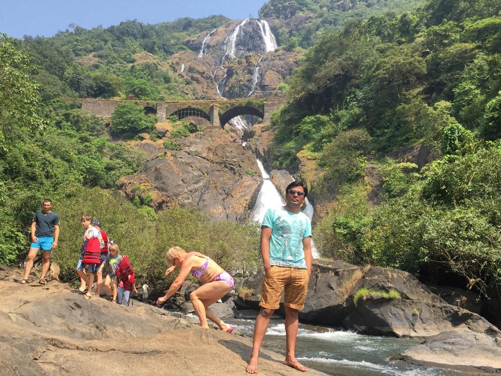 Vipul at Dudhsagar waterfall