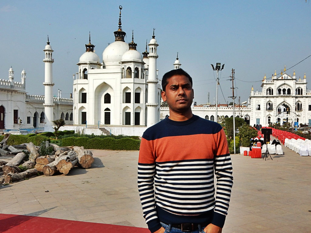 me at Chhota Imambara