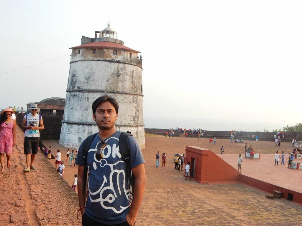 Vivek at Fort Aguada