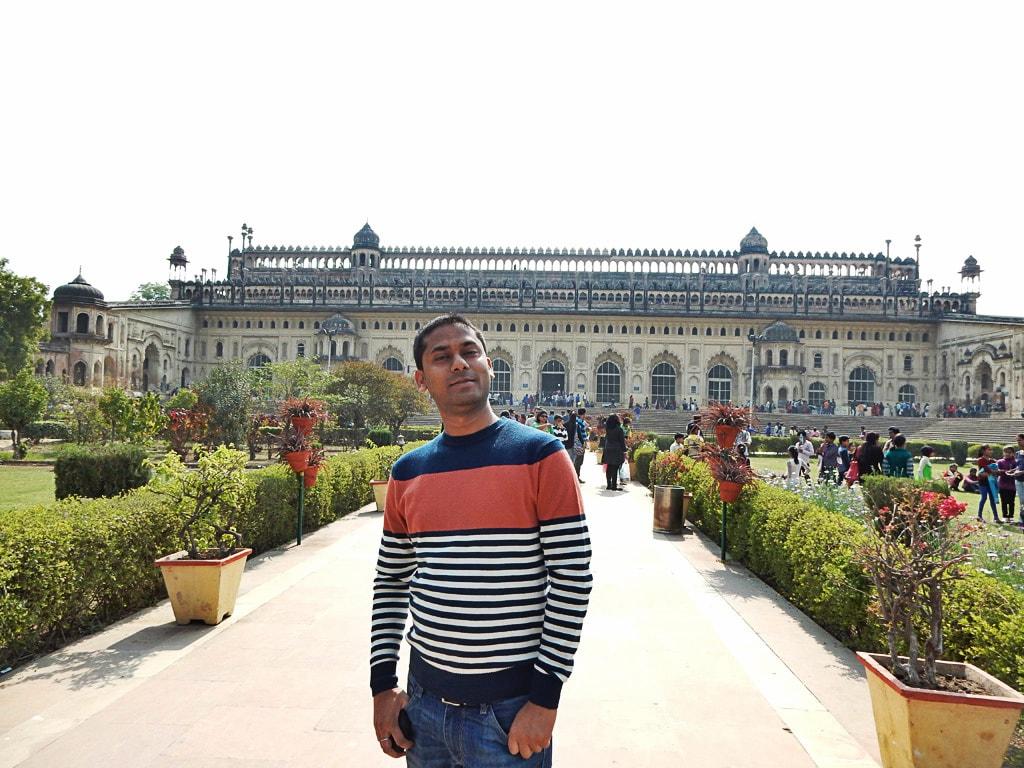 me at Bara Imambara
