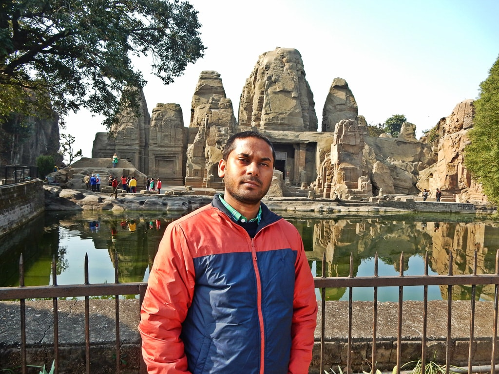 Vivek at Rock Cut Temple