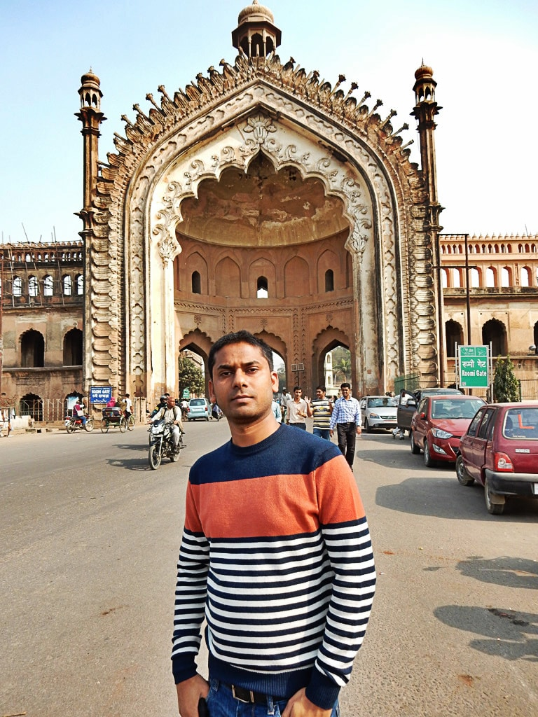 me in the front of Rumi Darwaza